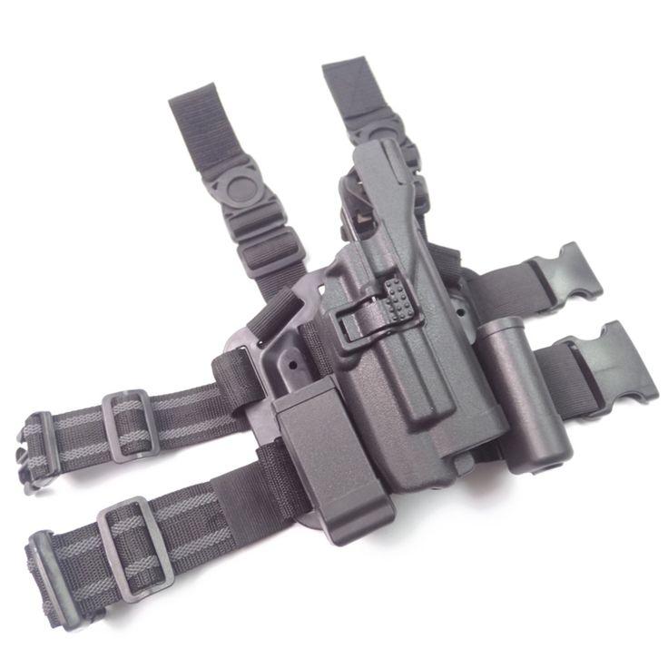 Military Tactical LV3 SERPA LIGHT BEARING HOLSTER SET GLOCK 17 19 22 23 31 32 RH Drop Leg GLOCK holster
