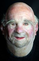 "Silicone Mask Old Man ""Fred"" Halloween Hand Made, Pro Realistic High Quality"