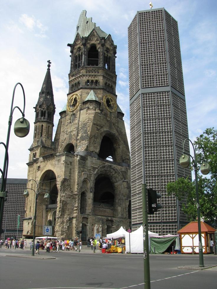 Berlin - Kaiser-Wilhelm-Gedachtnis Kirche is a sobering reminder of how devastating war is.