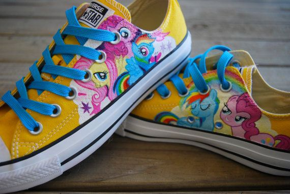 My Little Pony Custom Converse by kaecanpaint on Etsy, $120.00
