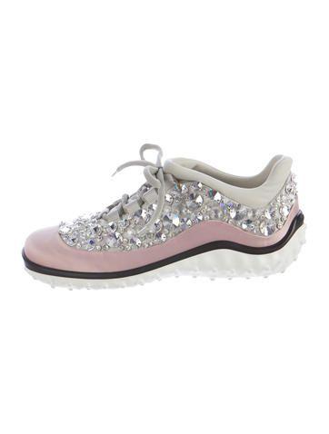 Miu Miu Astro Swarovski-Embellished Sneakers w/ Tags