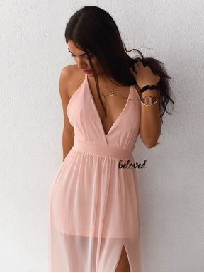 MORGAN PINK MAXI DRESS
