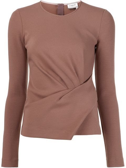 LANVIN Draped Jersey Top. #lanvin #cloth #top