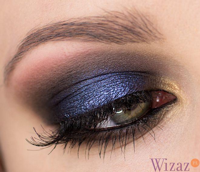 Makijaż oczu z granatem i czernią