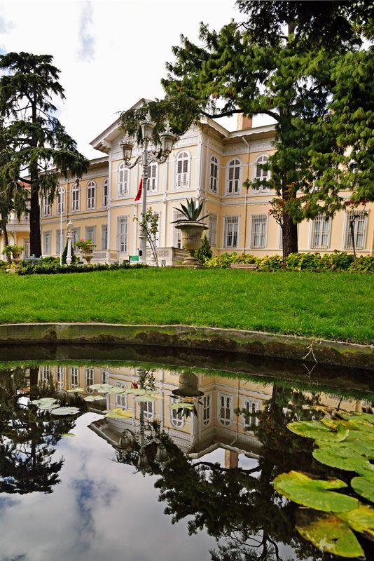 "Yıldız Şale Köşkü (""Star Chalet Kiosk"") is a 60-room Ottoman imperial palace of wood and stone built at the top of a hill in Yıldız Parkı overlooking the Bosphorus in the Beşiktaş district of Istanbul"