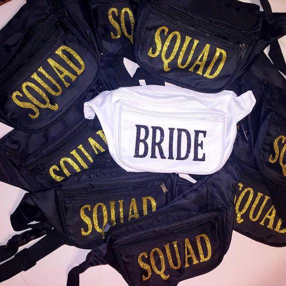 Fanny packs Bachelorette parties Bridesmaids Bridal