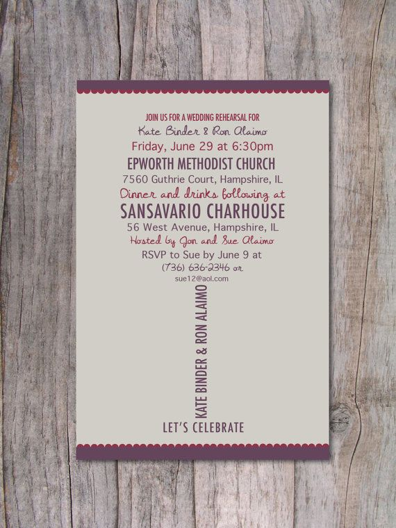 Rehearsal Dinner Invitation Wine Lovers by PinchOfSpice on Etsy, $15.00