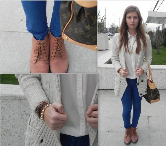 Zara Jeans, Bershka Shirt, Zara Blazer, Zara Boots, Louis Vuitton Bag aaibucketlist.wordpress.com/2012/12/02/lazy-casual/