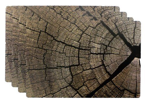 Foreston Trends Printed Plastic Wood Placemat 13 By 19