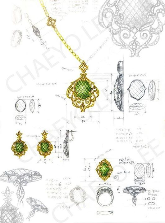 27 Best Jewellery Design Sketchbooks Images On Pinterest | Jewellery Sketches Jewelry Sketch ...