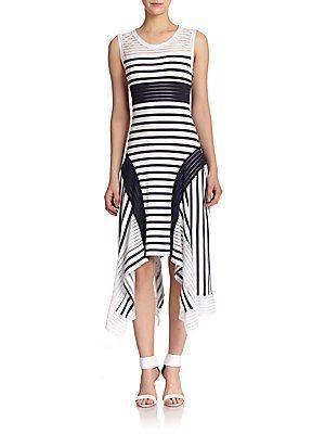 Jean Paul Gaultier Mixed-Stripe Tank Dress