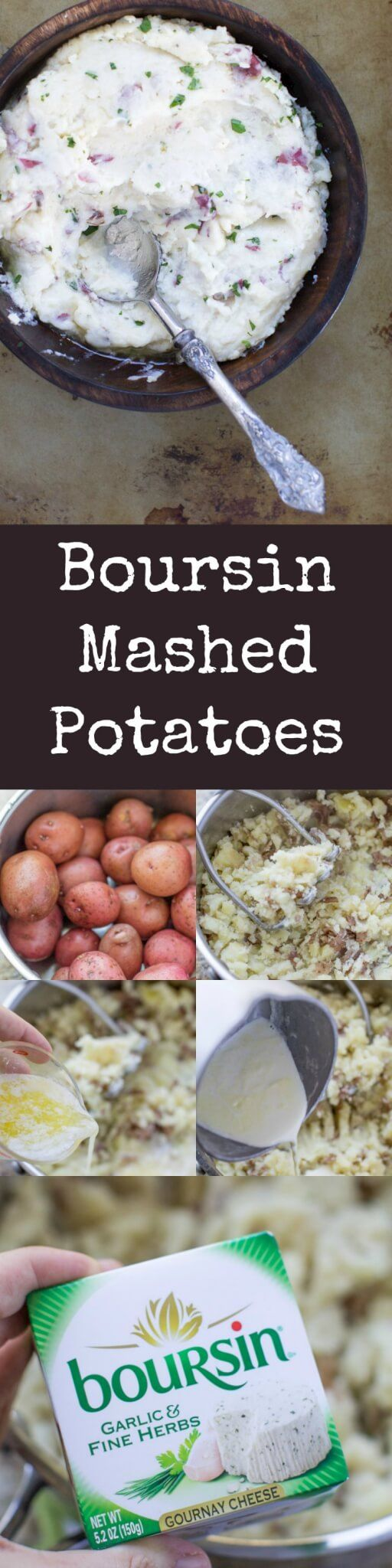 Hate peeling potatoes? Love Boursin cheese? These easy, creamy Boursin Mashed Potatoes are the taters of your dreams. A Blue Bayou (Disneyland) copycat.