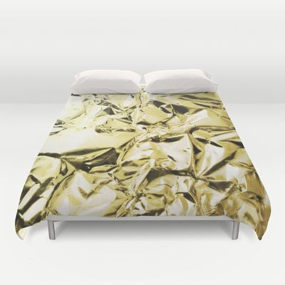 Gold foil Duvet Cover by lamottedesign - $99.00