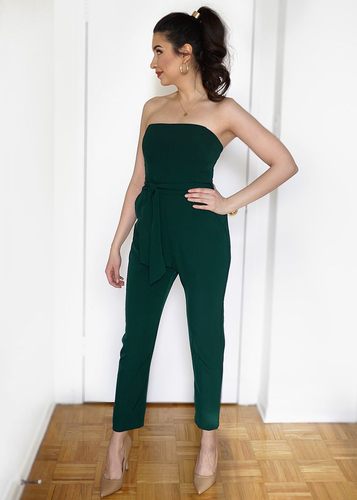 4776011b8 Hunter Green Jumpsuit Outfit | Sara du Jour | My blog: Sara du Jour ...
