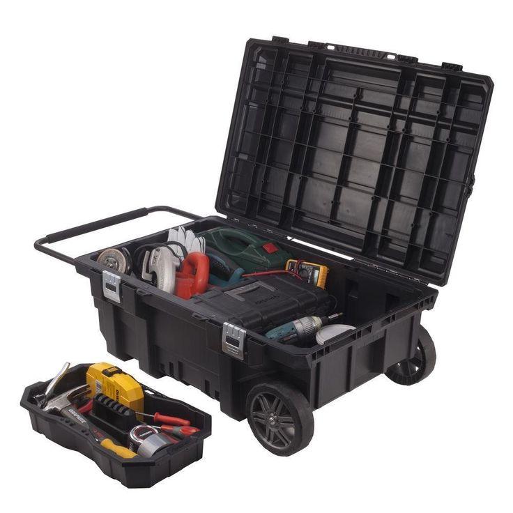 Portable Tool Boxes On Wheels With Drawers Large Gang Box Storage Job Box Mobile #Husky
