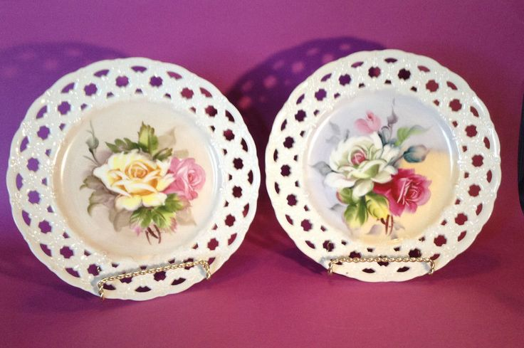 Made in Japan By Lefton. With Hand Painted Roses. To Canada Australia And Japan. | eBay!
