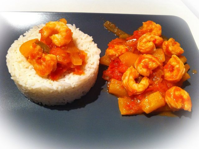 Crevettes sauce piquante et son riz, Recette de Crevettes sauce piquante et son riz par Titia❇ - Food Reporter