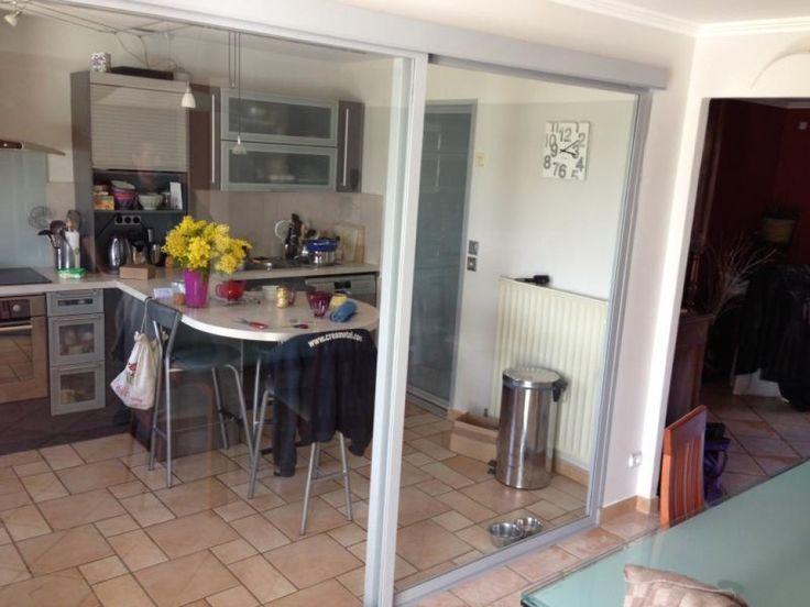 1000 id es propos de baie vitr e coulissante sur for Separation vitree entre cuisine et salon