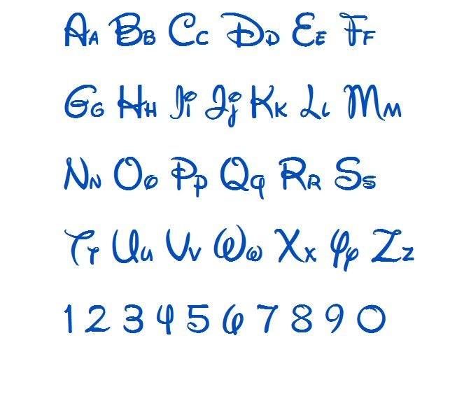 ... font monogram alphabet 3 sizes $ 2 95 via etsy more disney fonts