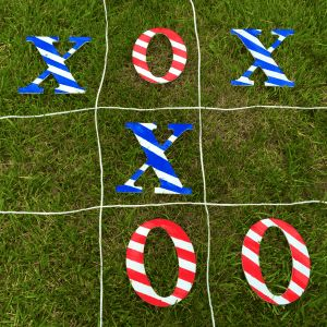 Prepare to be in high demand for every neighborhood block party, family reunion, and friendly cookout with this aDOORable DIY backyard game. Who's up for a little friendly competition? Let the games begin!