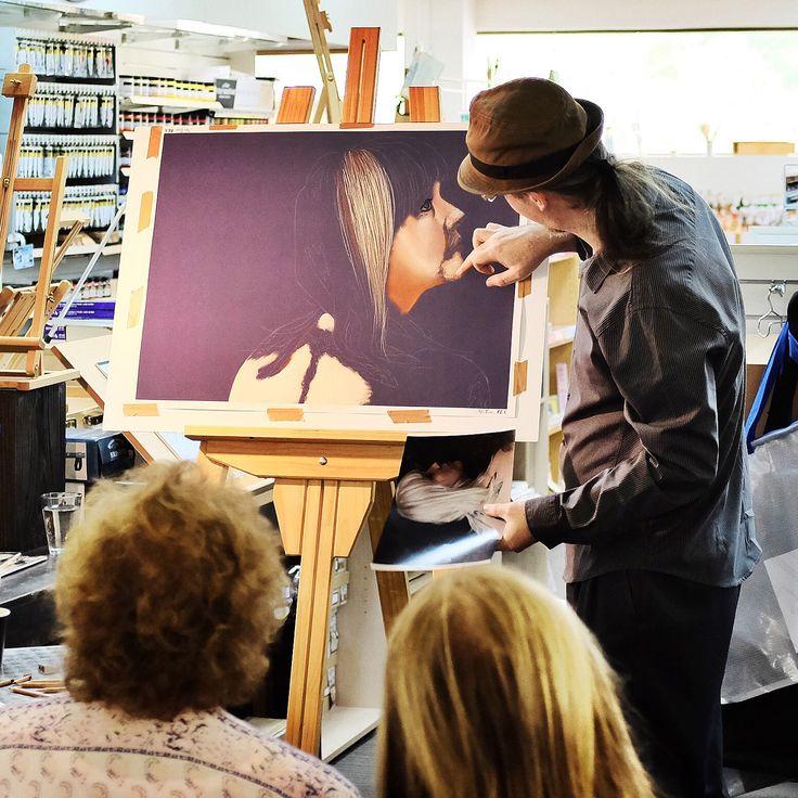 Pastel portrait demo by David Wells