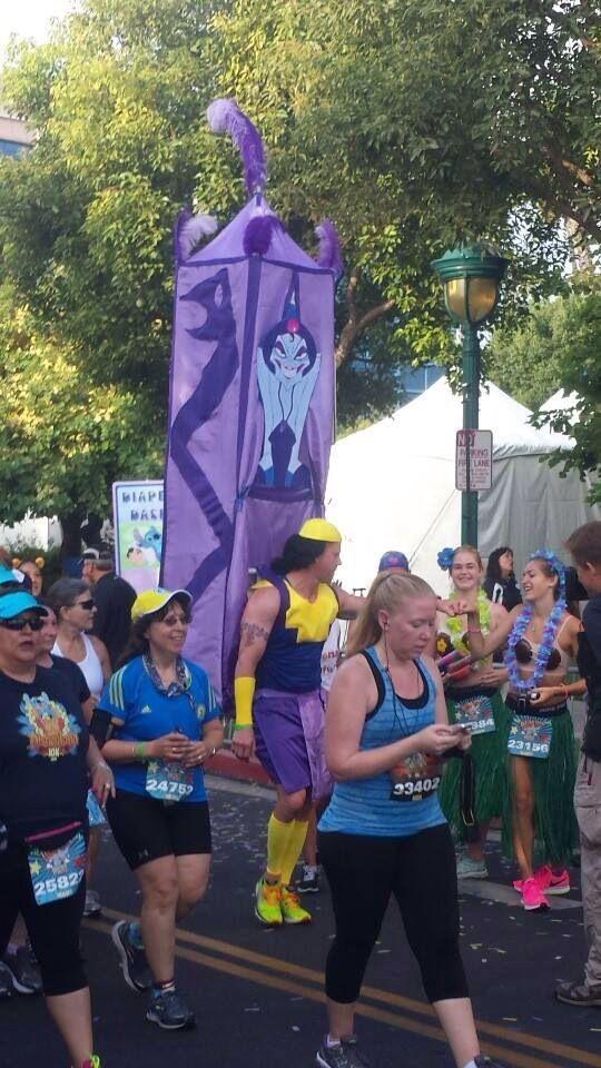 Oh, right. The marathon. The marathon for Disneyland, the marathon chosen especially to run around Disneyland, Disneyland's marathon. That marathon?