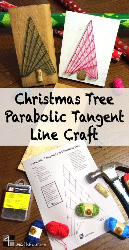 You can use the tangent lines from a parabola to make a Christmas Tree. Really! ~BON