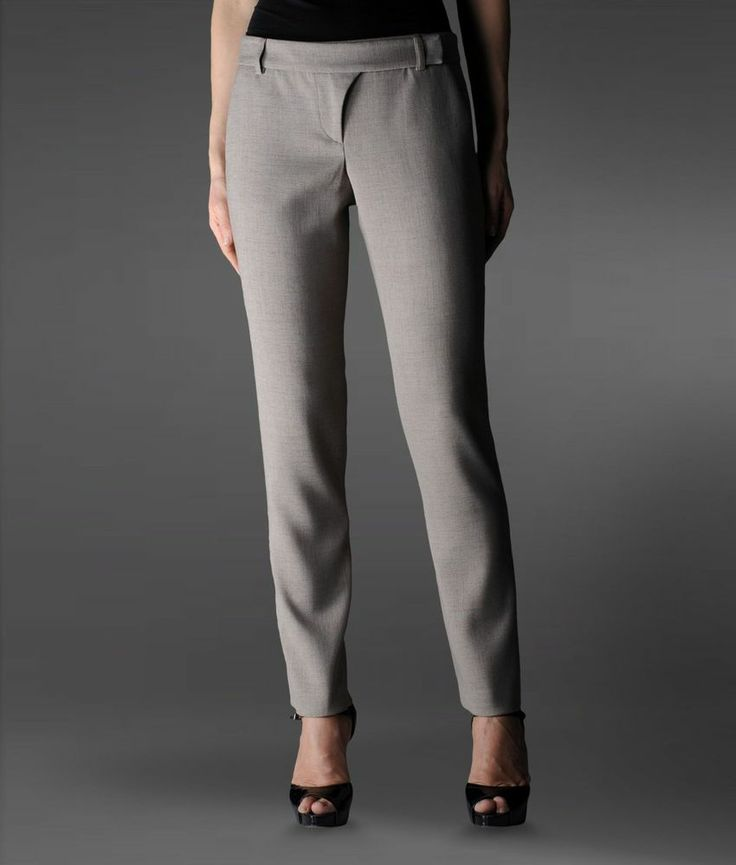 NEW EMPORIO ARMANI CAMPAIGN WOMAN PANTS SZ 44 IT / 8 US #EMPORIOARMANI #DressPants