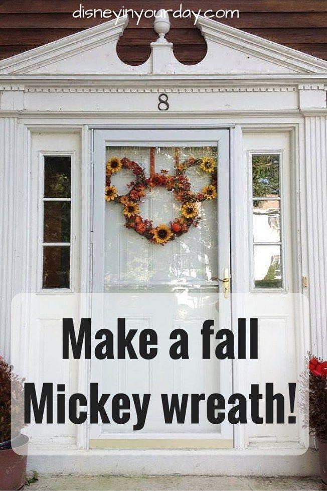 Crafty Corner Fall Mickey Wreath Disney Home Decordisney
