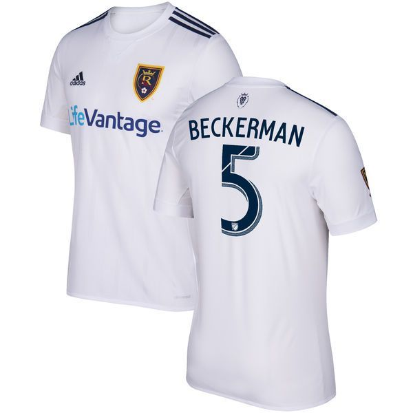 Kyle Beckerman Real Salt Lake adidas 2017 Secondary Replica Jersey - White - $114.99