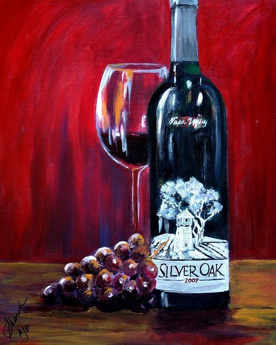 Wine Bottle Painting Images