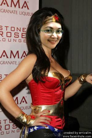 photo edits - me as wonderwoman/ original photo of Kim Kardashian)