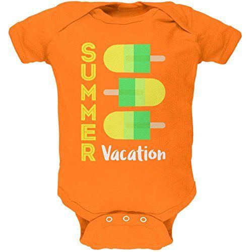 Summer Sun Ice Pop Summer Vacation Soft Baby One Piece Ma...