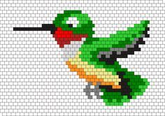 Green Hummingbird Bead Pattern