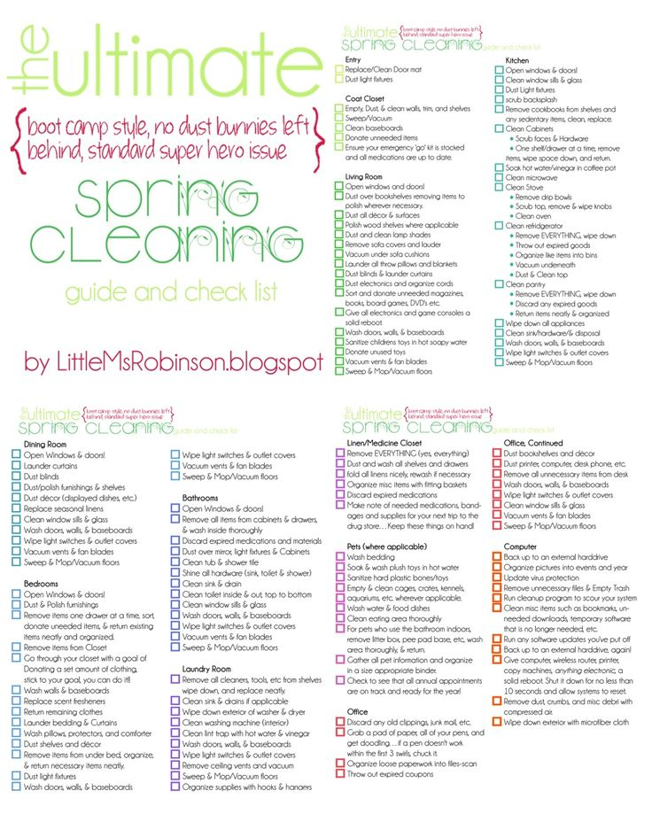 The Ultimate Spring Cleaning Checklist Printable