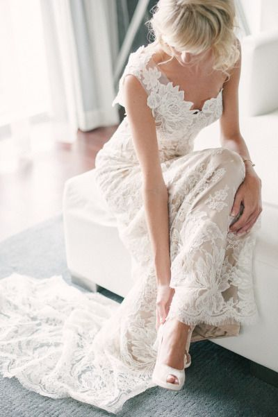 Gorgeous one-shoulder gown: http://www.stylemepretty.com/2015/01/09/miami-contemporary-art-gallery-wedding/ | Photography: Katie Lopez - http://katielopezphotography.com/