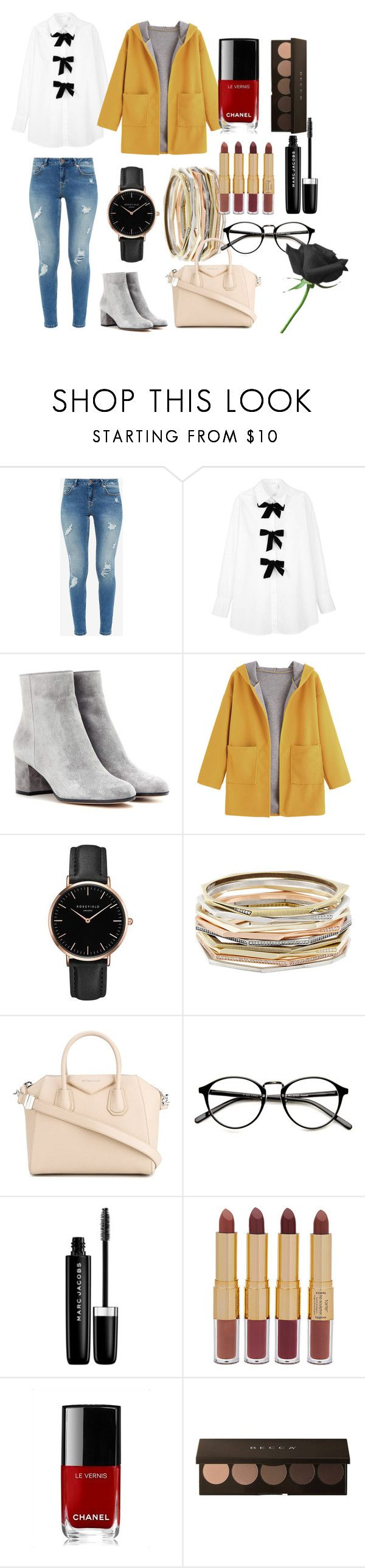 """""""Evie"""" by judehassan on Polyvore featuring Ted Baker, See by Chloé, Gianvito Rossi, Topshop, Kendra Scott, Givenchy, Marc Jacobs, tarte and Chanel"""