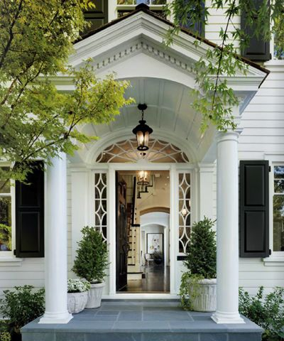 Barrel vaulted ceiling and spider webbed windows make for for Colonial window designs