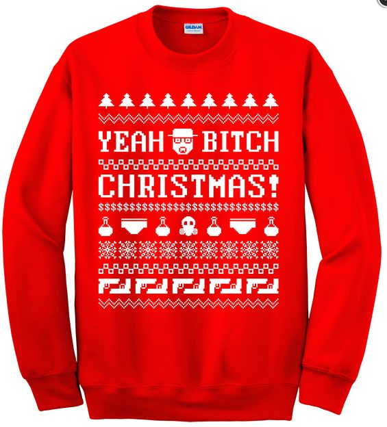This one, who didn't ask Santa for a new season of Breaking Bad? | 24 Christmas Jumpers You'll Want To Wear All Year Round