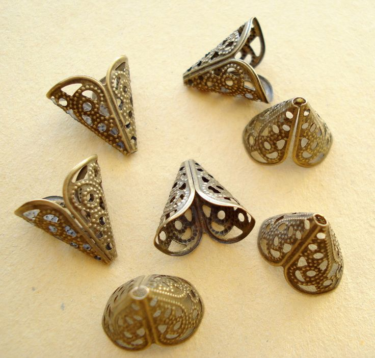 200 Bulk Filigree Bead Caps Antiqued Bronze 16mm S118 by yooounique on Etsy