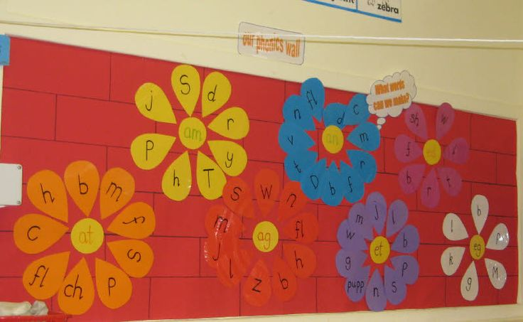 Phonics flowers from Wilma  Could be made into a center or work station