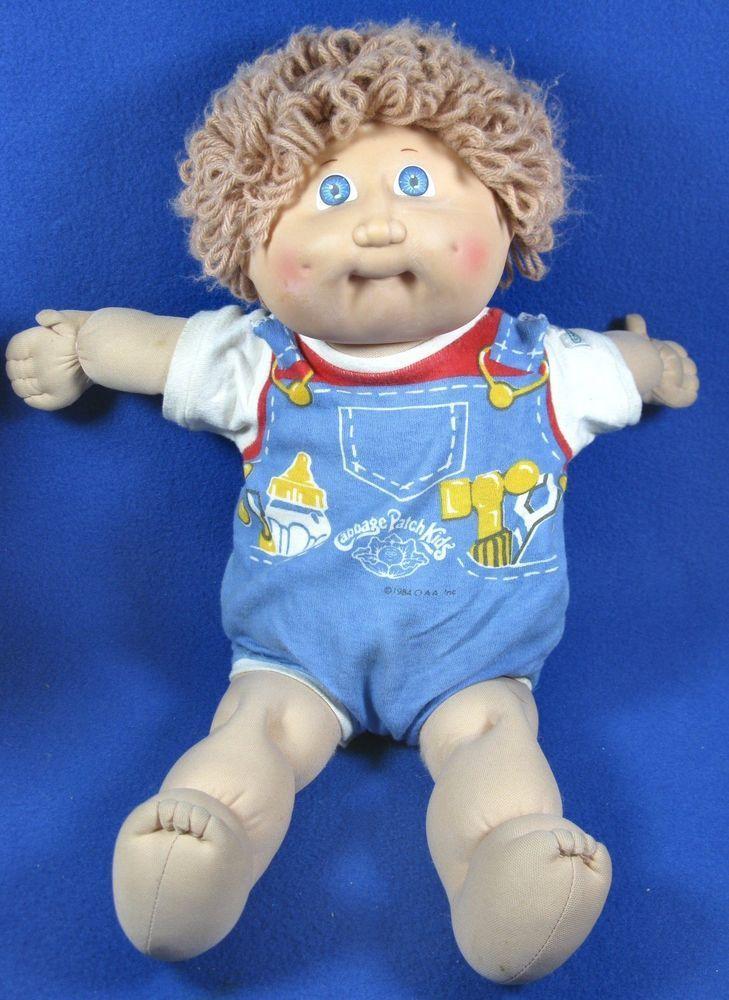 Cabbage Patch Kids Boy Sandy Blonde Hair Blue Eyes Dressed