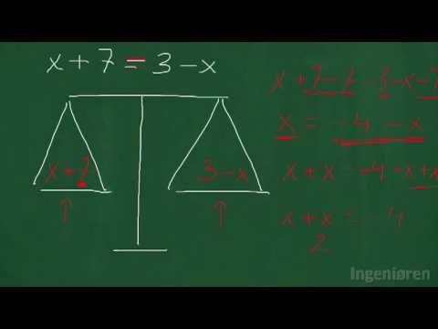 20 Lær en metode til at løse ligninger