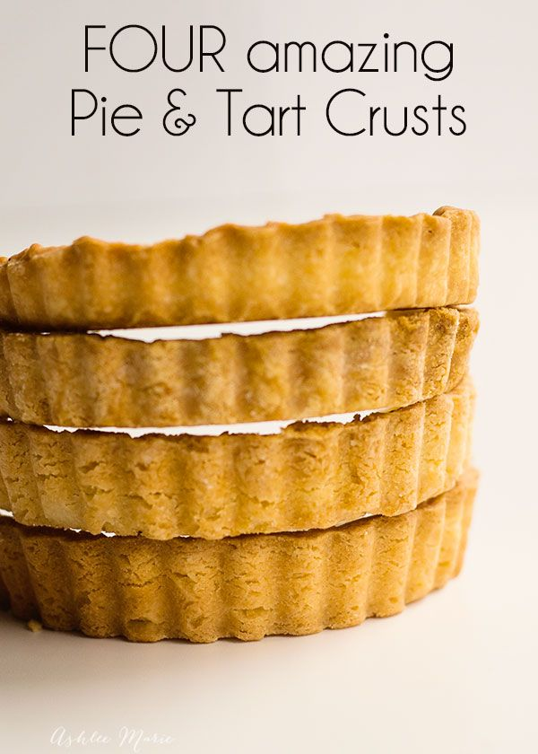 Four amazing Pie Crusts - Flaky, Brisee, Sucree, Sablee