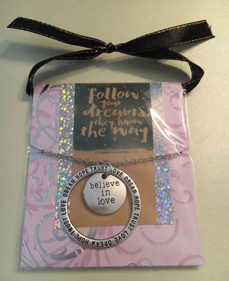 Believe in love necklace in inspirational gift package by NoLimitations83 on Etsy