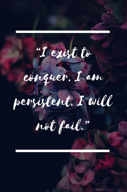 How to Surprise Yourself and Chase Your Dreams  conquer, affirmation, quote, blog, self love, goals, dreams, persistent, goal
