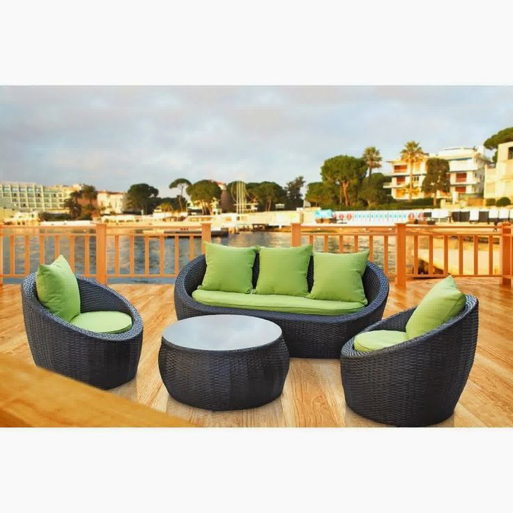 Discount 51% For LexMod Avo Outdoor Wicker Patio 4 Piece Sofa Set In Brown  With Part 79