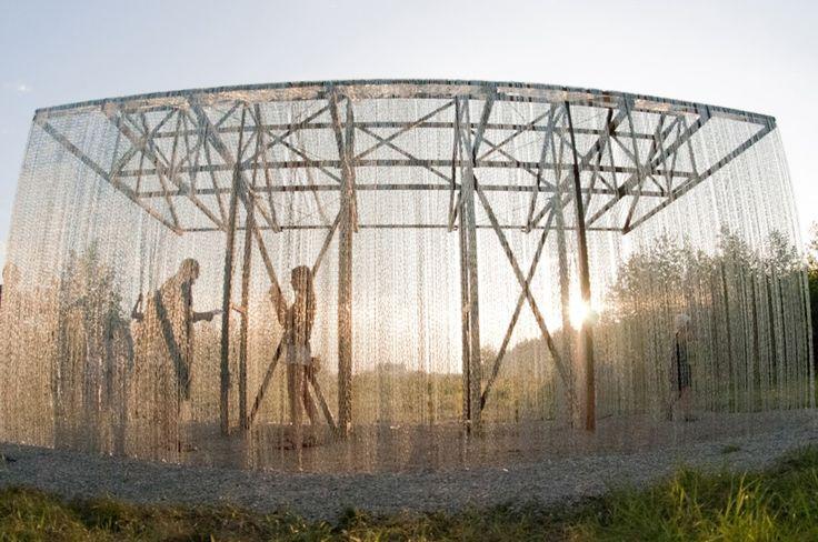 FAS(t) architects Nikola-Lenivets paviljoen architectuur standless steel