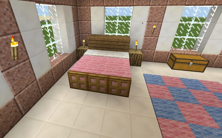 Minecraft Pink Bed Bedroom