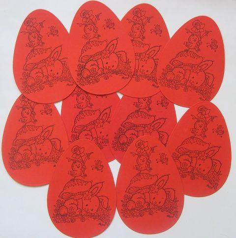 Húsvéti tojás bélyegzőmintával